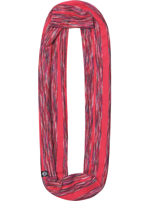 Buff Cotton Infinity Scarf Pink Stripes